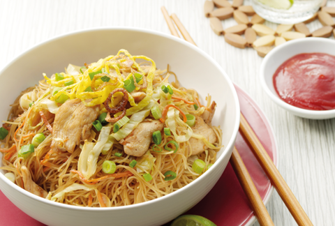 Chicken and Vegetables Fried Bihun (Rice Vermicelli)