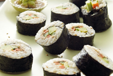 Brown Rice Tuna Nori Roll
