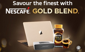Savour the finest with NESCAFÉ® GOLD BLEND