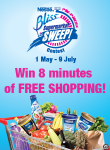 Win 8 minutes of FREE SHOPPING with Nestlé Bliss Supermarket Sweep Contest!
