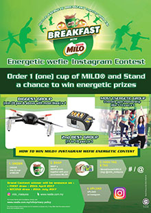 BREAKFAST WITH MILO ENERGETIC WEFIE INSTAGRAM CONTEST
