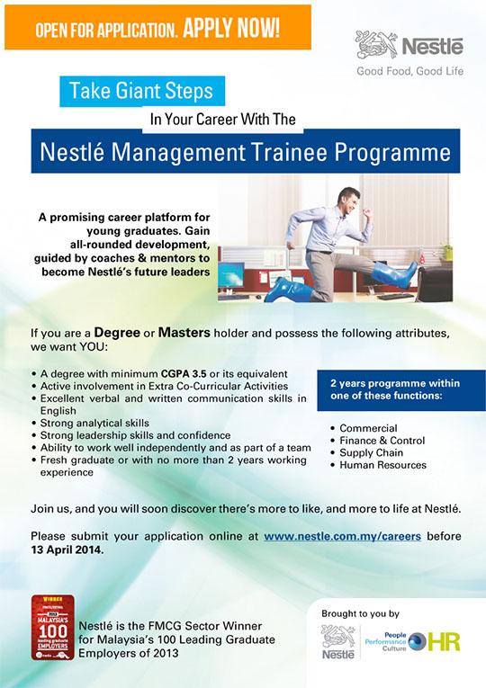 Nestle management trainee malaysia