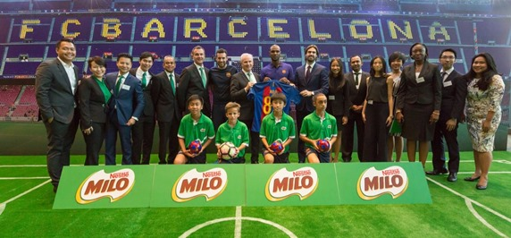 MILO and FC Barcelona Global Partnership to Help Over 22 Million Children