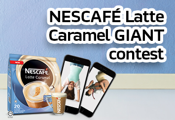Join the NESCAFÉ Latte Caramel contest with GIANTt