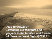 Extending our thoughts and prayers to the families and friends of those on board flight QZ8501
