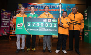 MILO hands over 2.7mio Energy Units to the Malaysian Contingent