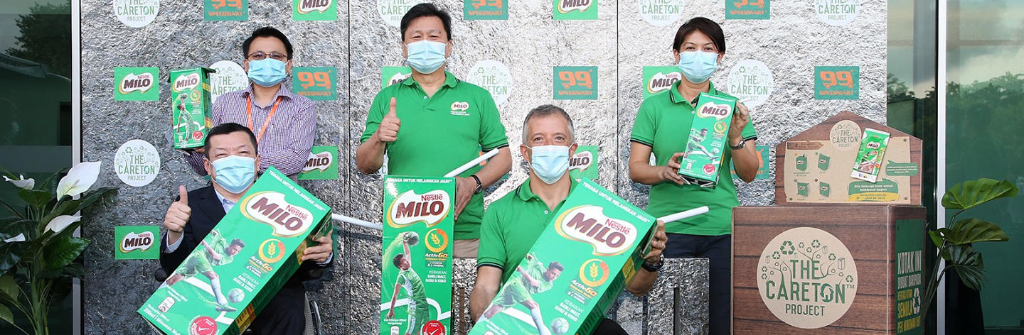 MILO UHT CAREton Project to collect 400K drink packs at 99 Speedmart this year